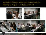 highlights of florida motorcycle safety coalition meeting on august 24 and 25 continued2