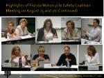 highlights of florida motorcycle safety coalition meeting on august 25 and 26 continued2