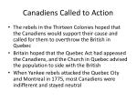 canadiens called to action