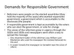 demands for responsible government