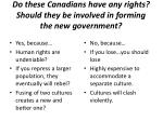 do these canadians have any rights should they be involved in forming the new government