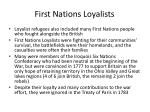 first nations loyalists