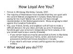 how loyal a re you