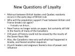 new questions of loyalty