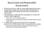 nova scotia and responsible government