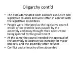 oligarchy cont d