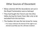other sources of discontent