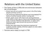 relations with the united states
