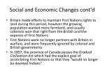 social and economic changes cont d