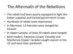 the aftermath of the rebellions