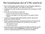 the constitution act of 1791 cont d x2