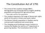 the constitution act of 1791