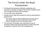 the french under the royal proclamation