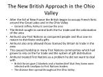 the new british approach in the ohio valley