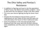 the ohio valley and pontiac s resistance