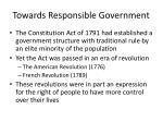 towards responsible government