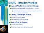 epsrc broader priorities