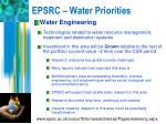 epsrc water priorities