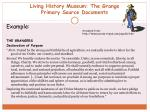 living history museum the grange primary source documents