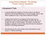 living history museum the grange primary source documents2