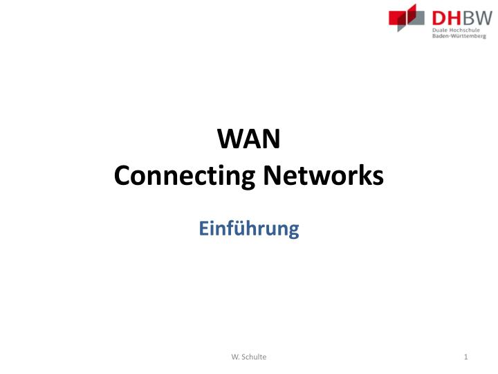 wan connecting networks n.