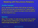 modeling with recurrence relations3
