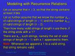 modeling with recurrence relations4