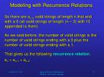 modeling with recurrence relations6