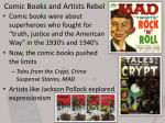 comic books and artists rebel