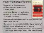 poverty among affluence