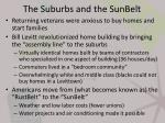 the suburbs and the sunbelt1