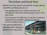 the urban and rural poor