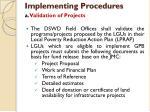 implementing procedures1
