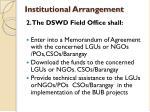 institutional arrangement2