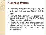 reporting system