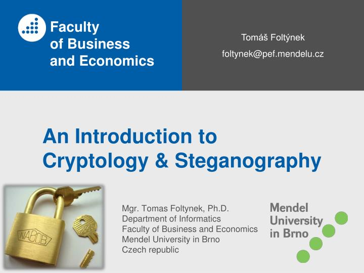 an introduction to cryptology steganography n.