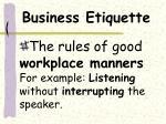 business etiquette1