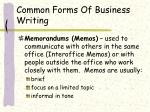 common forms of business writing