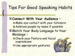 tips for good speaking habits