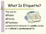 what is etiquette