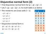 disjunctive normal form 2