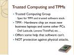 trusted computing and tpms