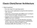 classic client server architecture