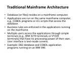 traditional mainframe architecture