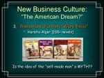 new business culture the american dream