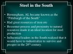 steel in the south