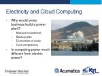 electricity and cloud computing