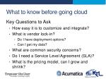 what to know before going cloud