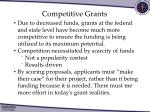 competitive grants1