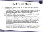 hard vs soft match
